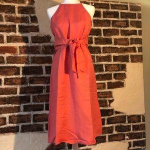 NWT Loft Tie Waist Halter Dress